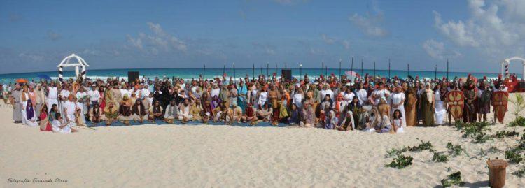 Actores del Viacrusis en Cancún