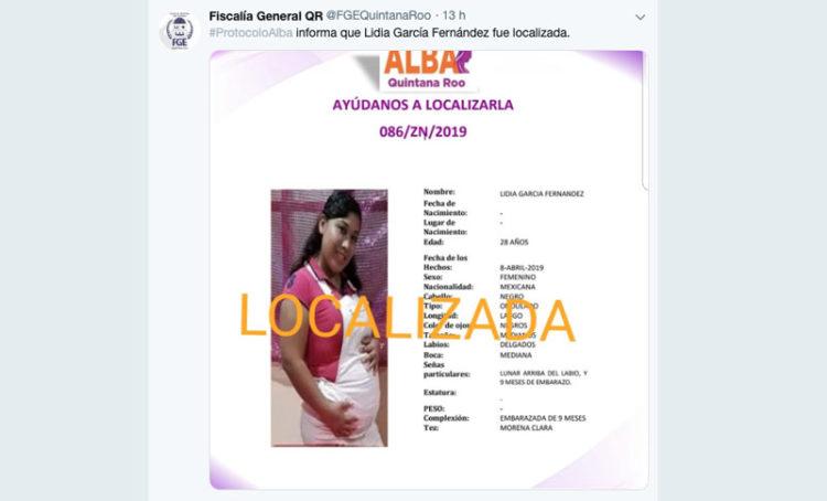 mujer embarazada desaparecida en Cancún