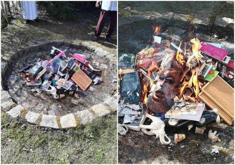 queman libros harry potter hello kitty