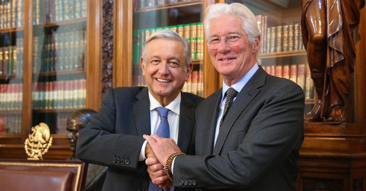 Richard Gere se reune con el presidente López Obrador