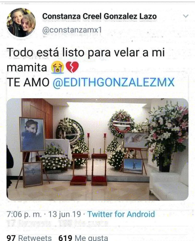 Falso perfil de twitter de Constanza Creel González