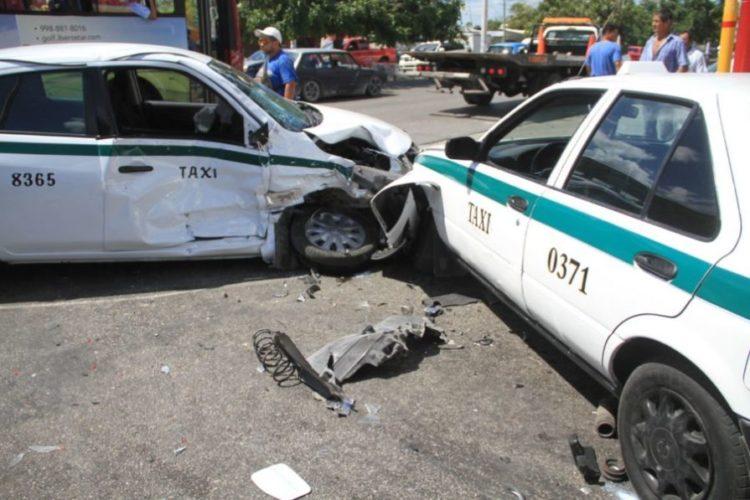 Taxistas, los más involucrados en accidentes de tránsito en Cancún