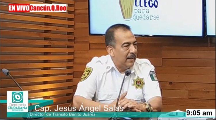 Jesús Ángel Salas Cruz, encargo de despacho de la Dirección de Tránsito en Benito Juárez.