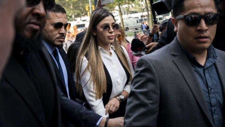 Emma Coronel llega a la Corte de Nueva York