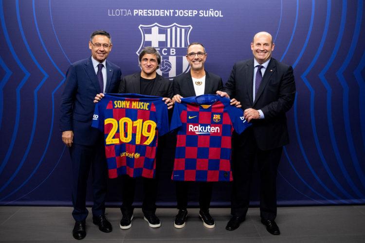 FC Barcelona y Sony Music