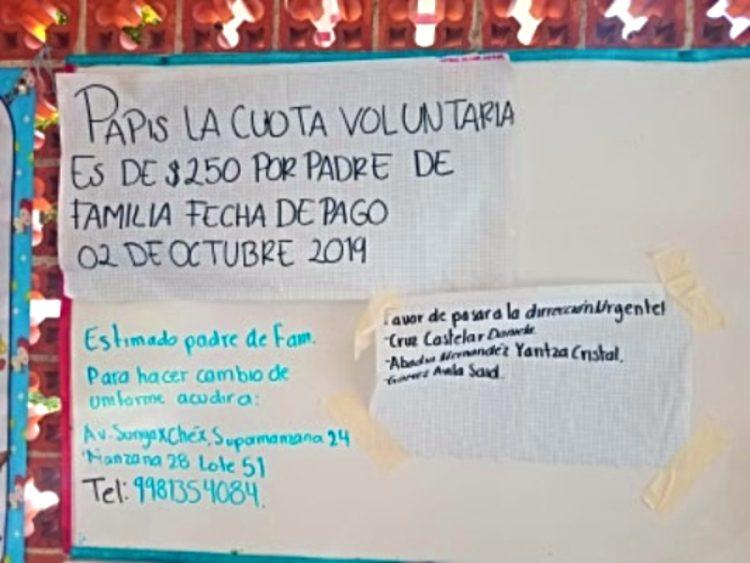 Cuotas voluntarias Cancún