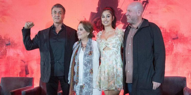 Sylvester Stallone visitó nuestro país para presentar la quinta entrega de Rambo, historia que se desarrolla en México.