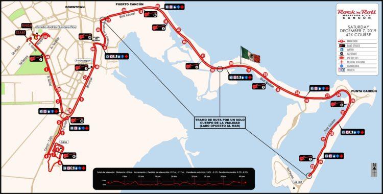 Cierre de calles por Maratón y Rock en Cancún este 6 y 7 de diciembre