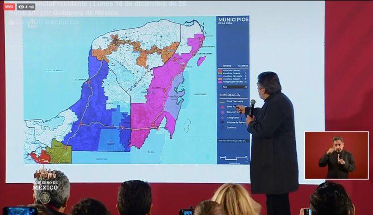 El proyecto del Tren Maya fortalecerá el ordenamiento territorial de la región y potenciará la industria turística, sostuvo el titular de Fonatur, Rogelio Jiménez Pons.