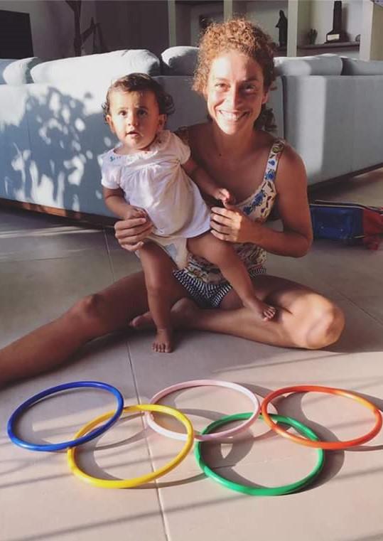 Aquí, Demita Vega con su inspiración: Alizé.