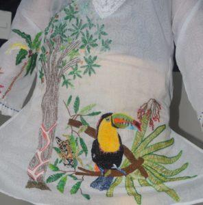 La flora y fauna más representativa de la región se ven reflejados en el diseño de Lili Terrazas.